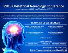 Photo of Obstetrical Neurology Conference invitation