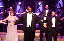 """photo of cast members singing in """"It's a Grand Night for Singing!"""" 2017"""