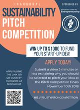 photo of 2018 Sustainability Pitch Competition poster