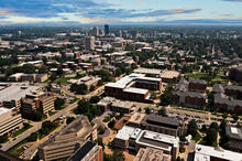 photo of aerial view of UK campus and Lexington