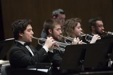 photo of 4 trumpet students