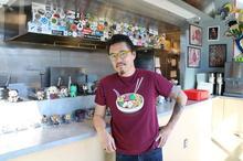 photo of Dan Wu in his first Atomic Ramen restaurant at The Barn