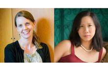 headshot photos of Emily Fridlund and Sherry Thomas