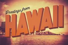 photo of Hawaii postcard