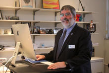 This is a photo of UK College of Fine Arts Dean Mark Shanda.