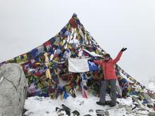 Dr. Kimberly Kaiser on Mount Everest