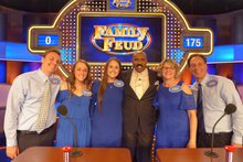 """photo of Konchel family and Steve Harve on """"Family Feud"""""""