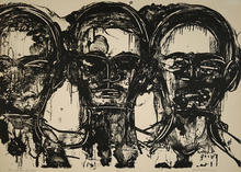 """photo of Lester Johnson's """"Three Heads, Frontal"""""""