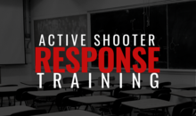 poster says active shooter response training