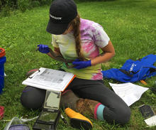 Rachel Pagano studied snake fungal disease in Kentucky's ecosystem