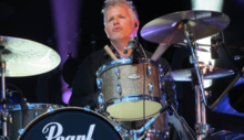 photo of Tom Hurst playing drums