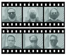 photo of 6 individual members of Archipelago in camera film setup