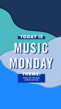 Instagram artwork for Music Monday: GOING FOR THE GOLD, OLYMPIC EDITION