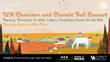 photo of web slide for 2019 UK Choristers and Chorale Fall Concert