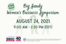 Big Sandy Women's Business Symposium virtual flyer