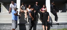 Students and faculty in Lyricism and Leadership pose for album cover, Photo by Brandon Turner
