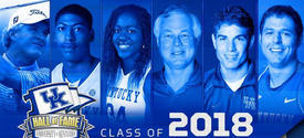 photo of inductees in 2018 UK Athletics Hall of Fame