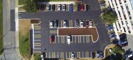 photo of Huguelet parking lot
