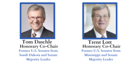 Tom Daschle (left) and Trent Lott (right) with text description below