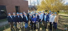 photo of groundbreakers for UK Grain and Forage Center of Excellence