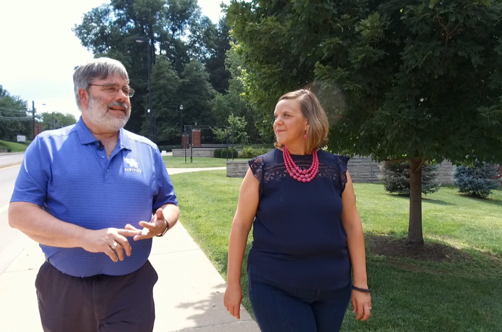 This is a photo from the Campus Walk with UK College of Fine Arts Dean Mark Shanda.