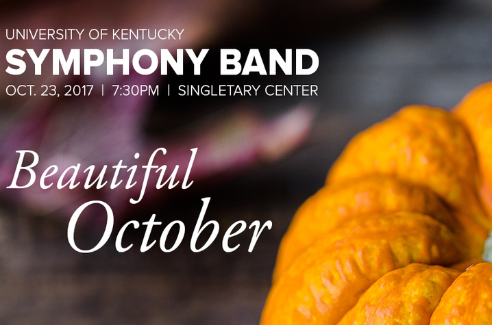 photo of UK Symphony Band October concert web banner