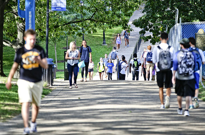 photo of UK students walking