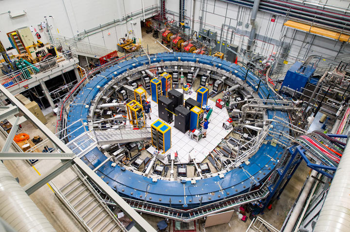 photo of the Muon g-2 ring at Fermilab