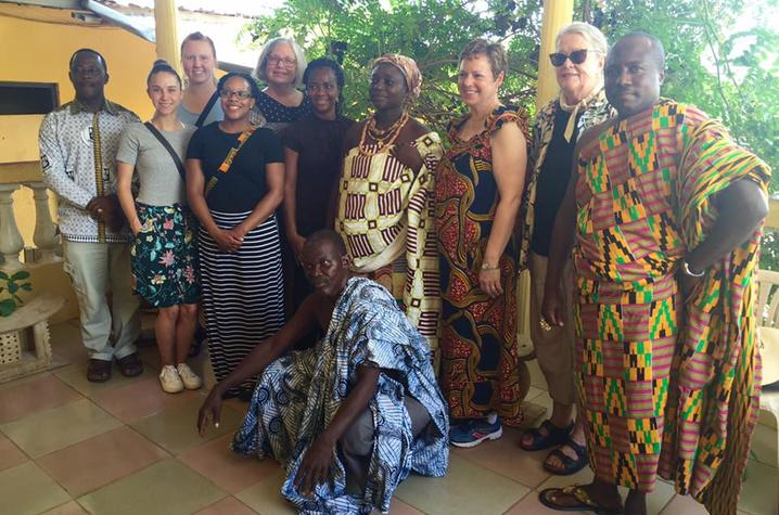 Study Tour Participants in Adjeikrom