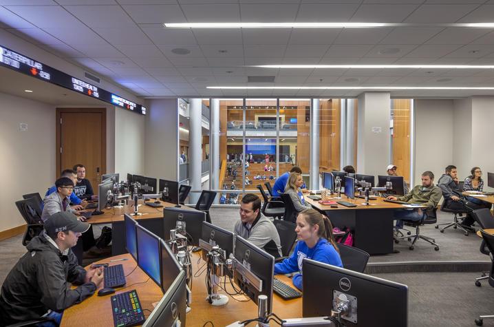Inside the Seale Finance Learning Center