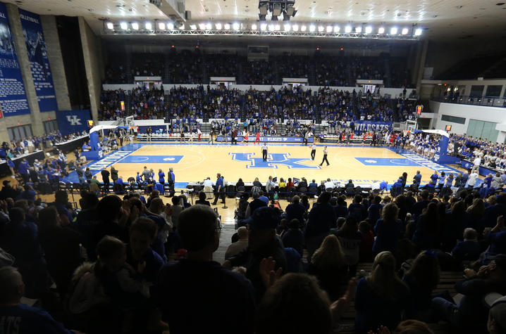 photo of UK women's basketball game at Memorial