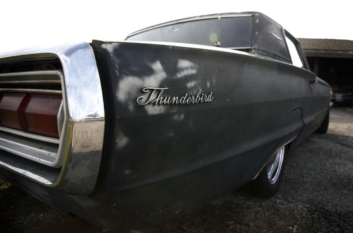 Photo of Gill Heart and Vascular Institute patient Jason Conn's 1968 Ford Thunderbird