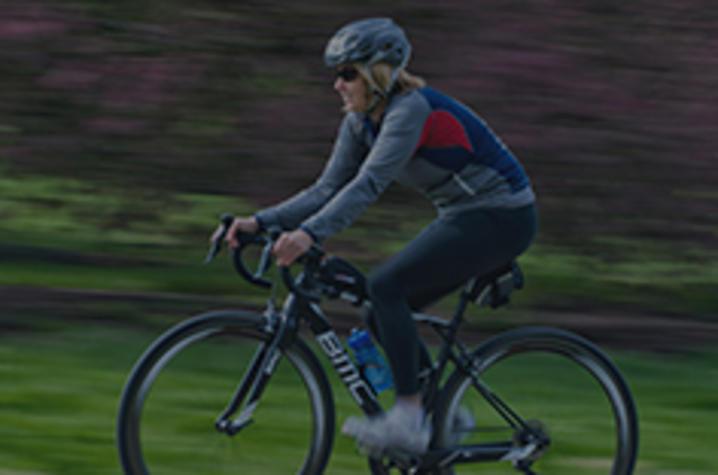 Patty Lane riding her bike