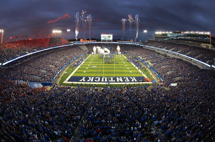 UK Football at Kroger Field. Photo by UK Athletics.