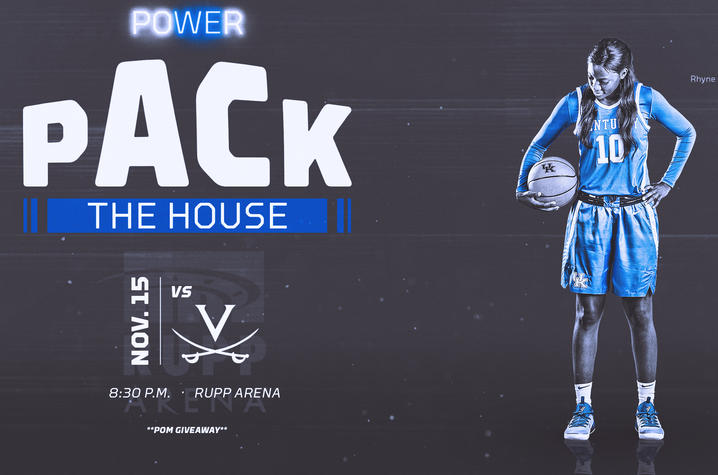 photo of Women's Basketball Pack the House graphic for Nov. 15 game