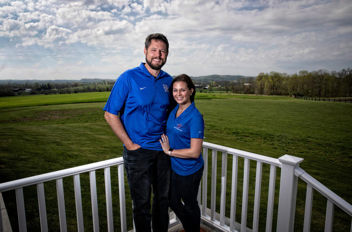 This is a photo of Jacob Tamme, and his wife, Allison.