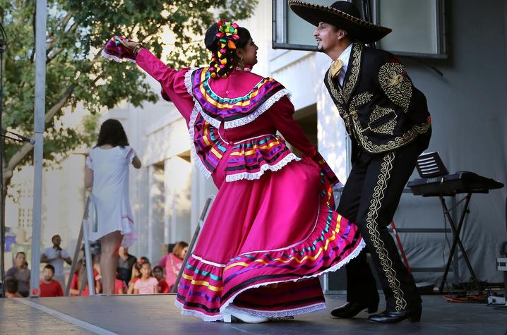 photo of 2 dancers at 2018 Festival Latino de Lexington