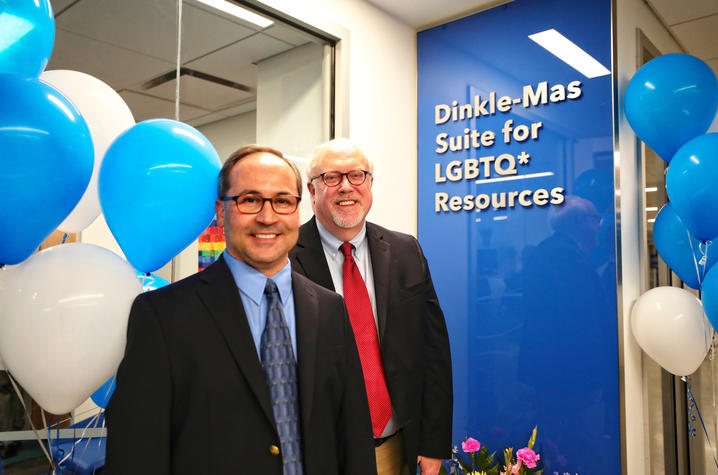 This is a photo of UK alumnus Jim Dinkle and his partner, Carlos Mas Rivera