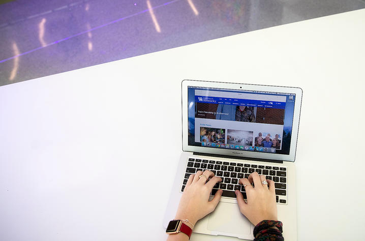photo of person using a laptop