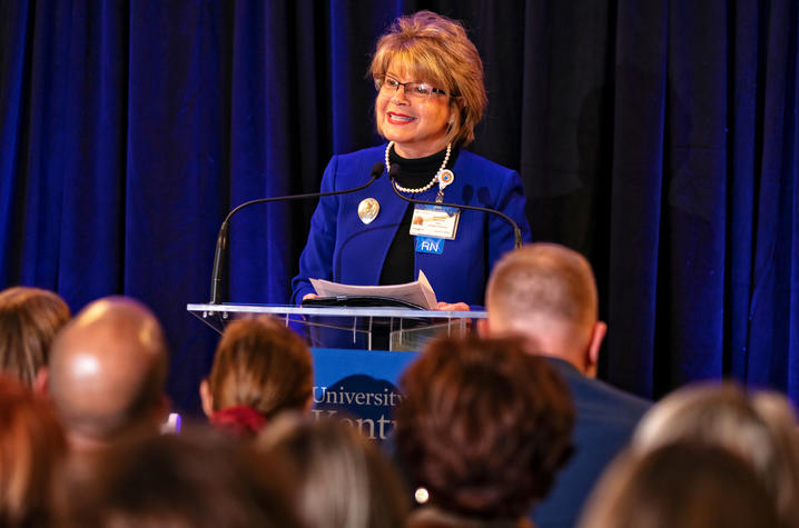 This is a photo of UK College of Nursing Dean Janie Heath.