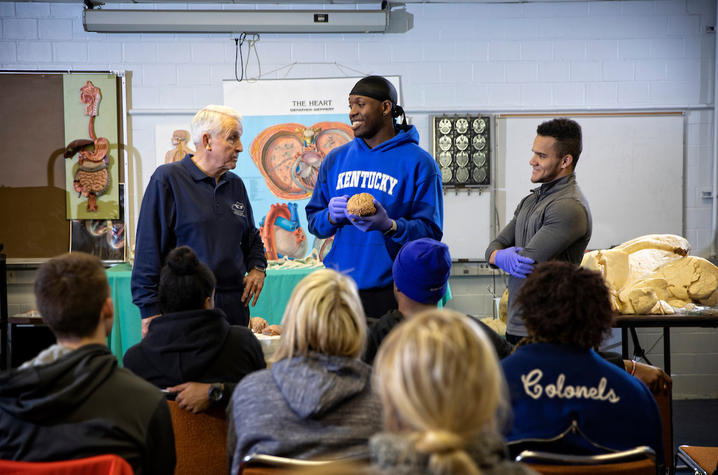 Don Frazier and UK students