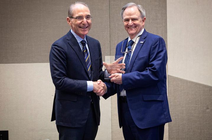 photo of UK President Eli Capilouto and former UK President Lee Todd