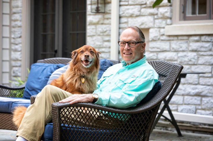 photo of Guy Bradley and his dog