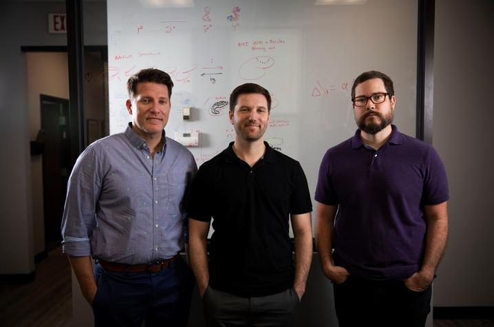 photo of Michael Wesley, Joshua Lile and Joshua Beckmann