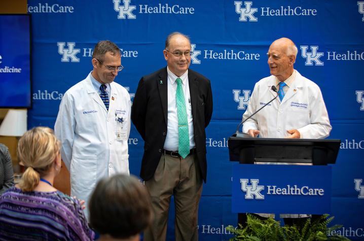 Dr. Charles Dietrich, Dr. Ed Pavlik, and Dr. John van Nagell