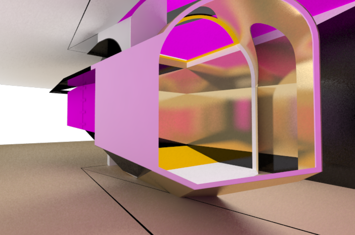 "photo of 2nd rendering of ""Singularities"""