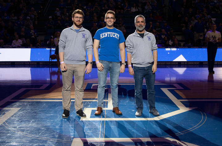(left to right) Anthony Trufanov, Dan Bannister, Dave Arnett (coach); Mark Cornelison | UKphoto