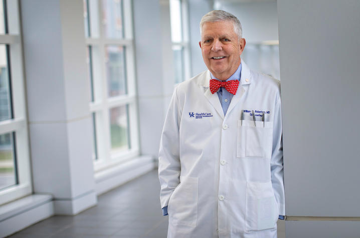 Dr. William Robertson, Neurology,  on March 6, 2020. Photo by Mark Cornelison | UKphoto