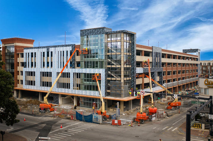 photo of The Cornerstone under construction