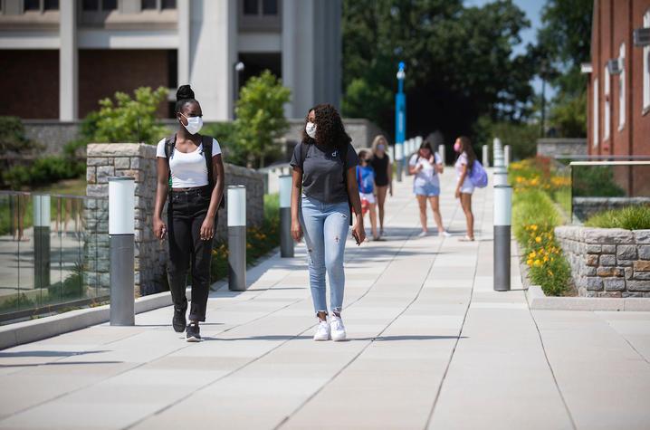photo of students wearing masks